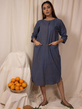 Load image into Gallery viewer, Lake Blue Straight Tunic-TOPS-IKKIVI