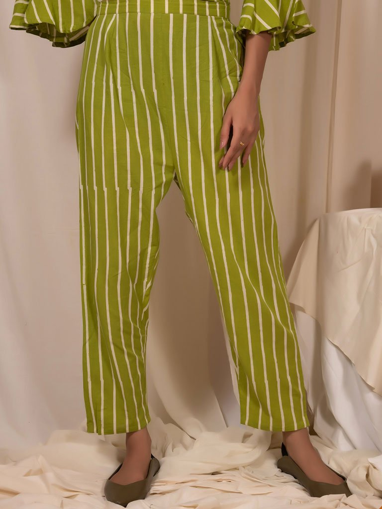 Lime Pants-BOTTOMS-IKKIVI