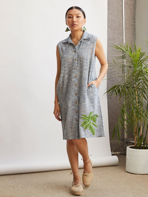 Palm By The Ocean Dress-DRESSES-IKKIVI