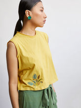 Load image into Gallery viewer, Palmy Knit Top - Yellow-TOPS-IKKIVI