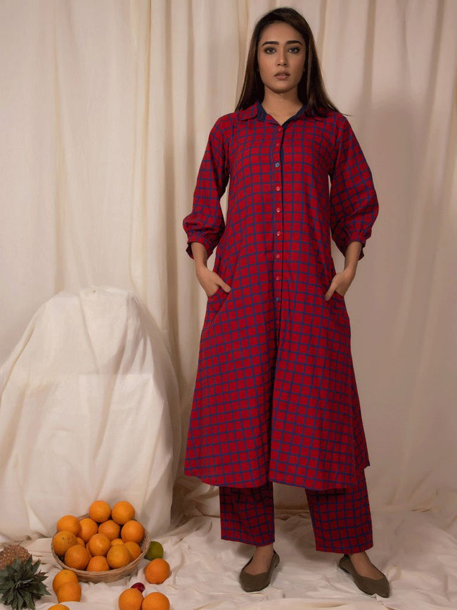 Redheart Tunic and Pants Set-DRESSES-IKKIVI
