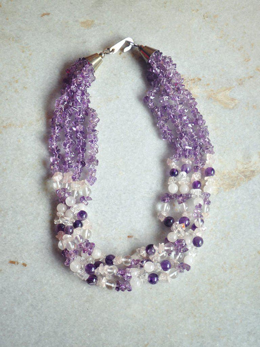 Rose Quartz & Amethyst Necklace