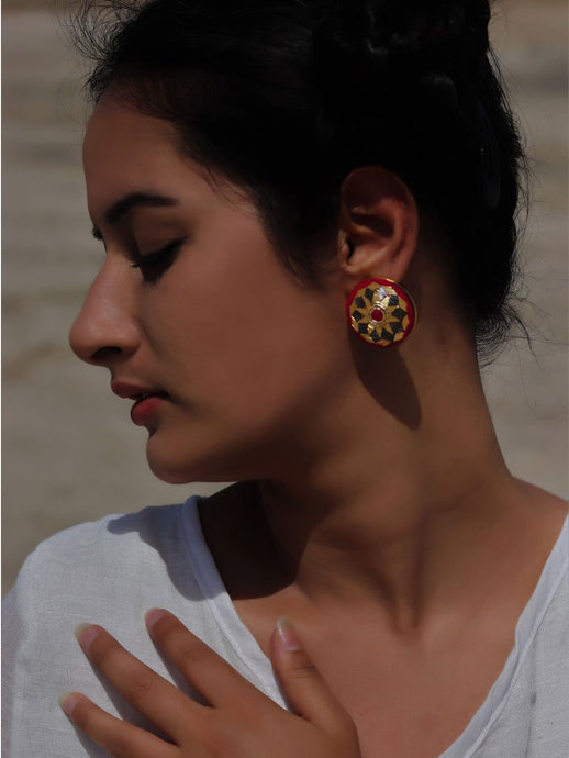 Rouge Earrings-JEWELLERY-IKKIVI