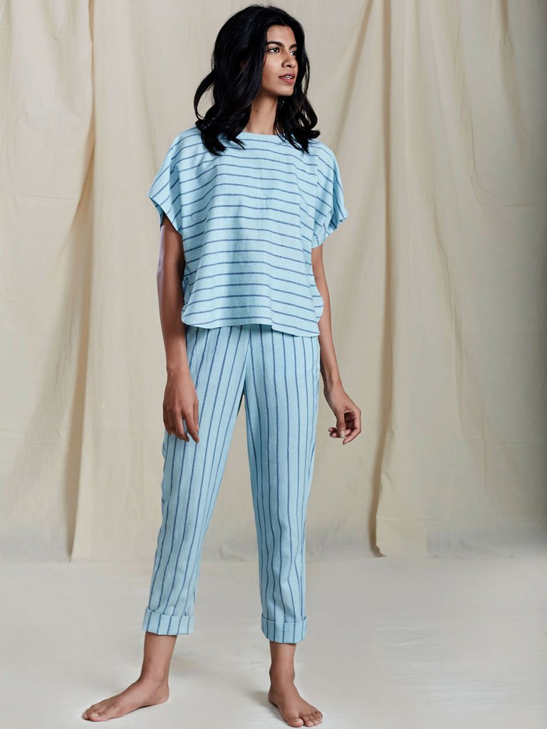 Se Thin Stripe Pants-SKIRTS & TROUSERS-IKKIVI
