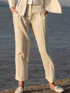 Single Pleat Trousers-BOTTOMS-IKKIVI