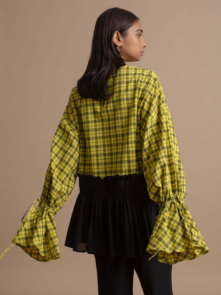 Two Tone Frill Top-TOPS-IKKIVI
