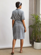 Load image into Gallery viewer, Weaved Shirt Dress-DRESSES-IKKIVI