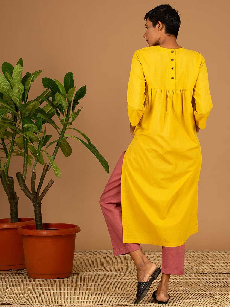 Yellow Kurta back