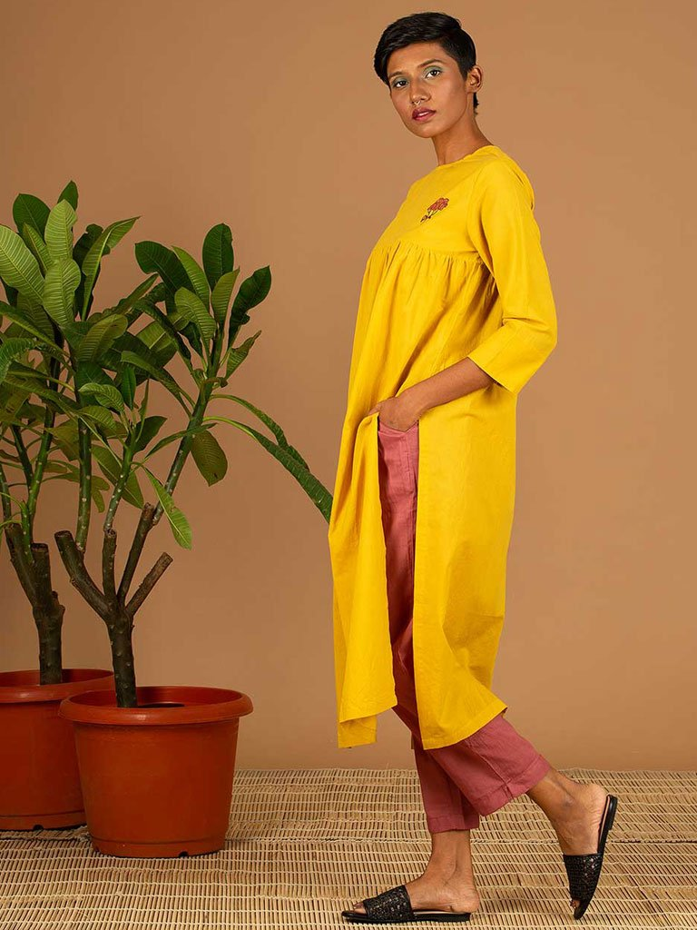 Yellow Kurta side
