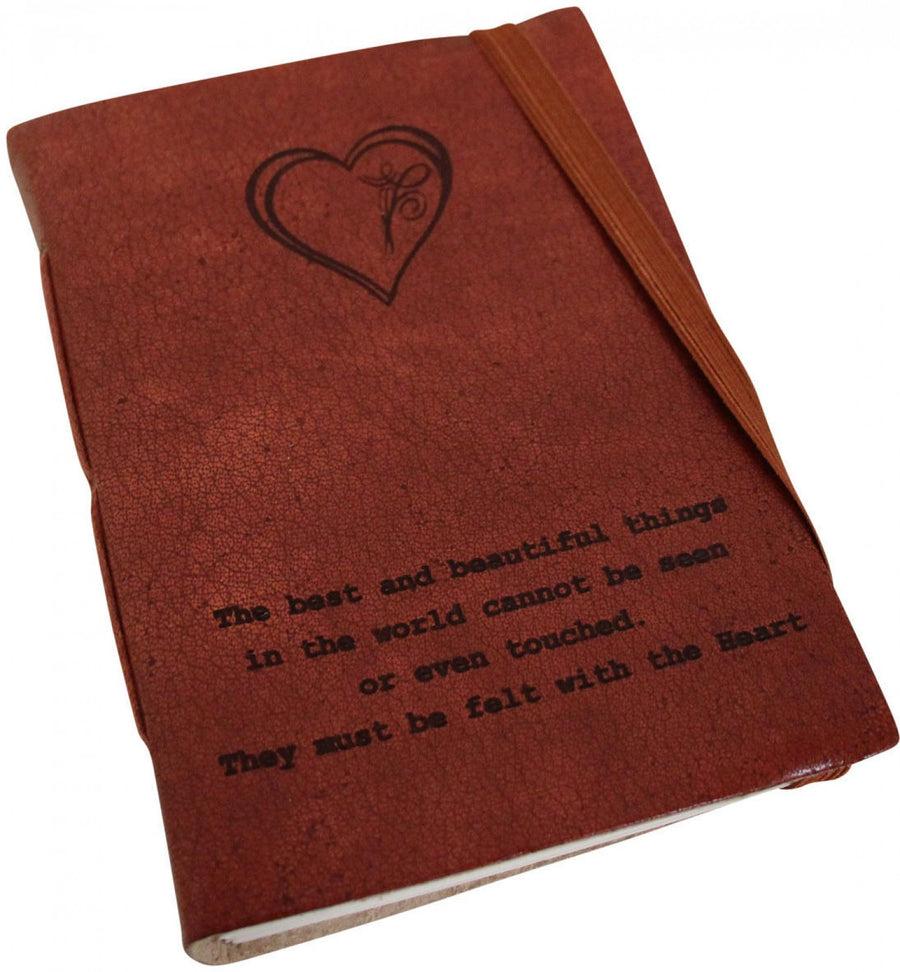 Leather Notebook - Heart