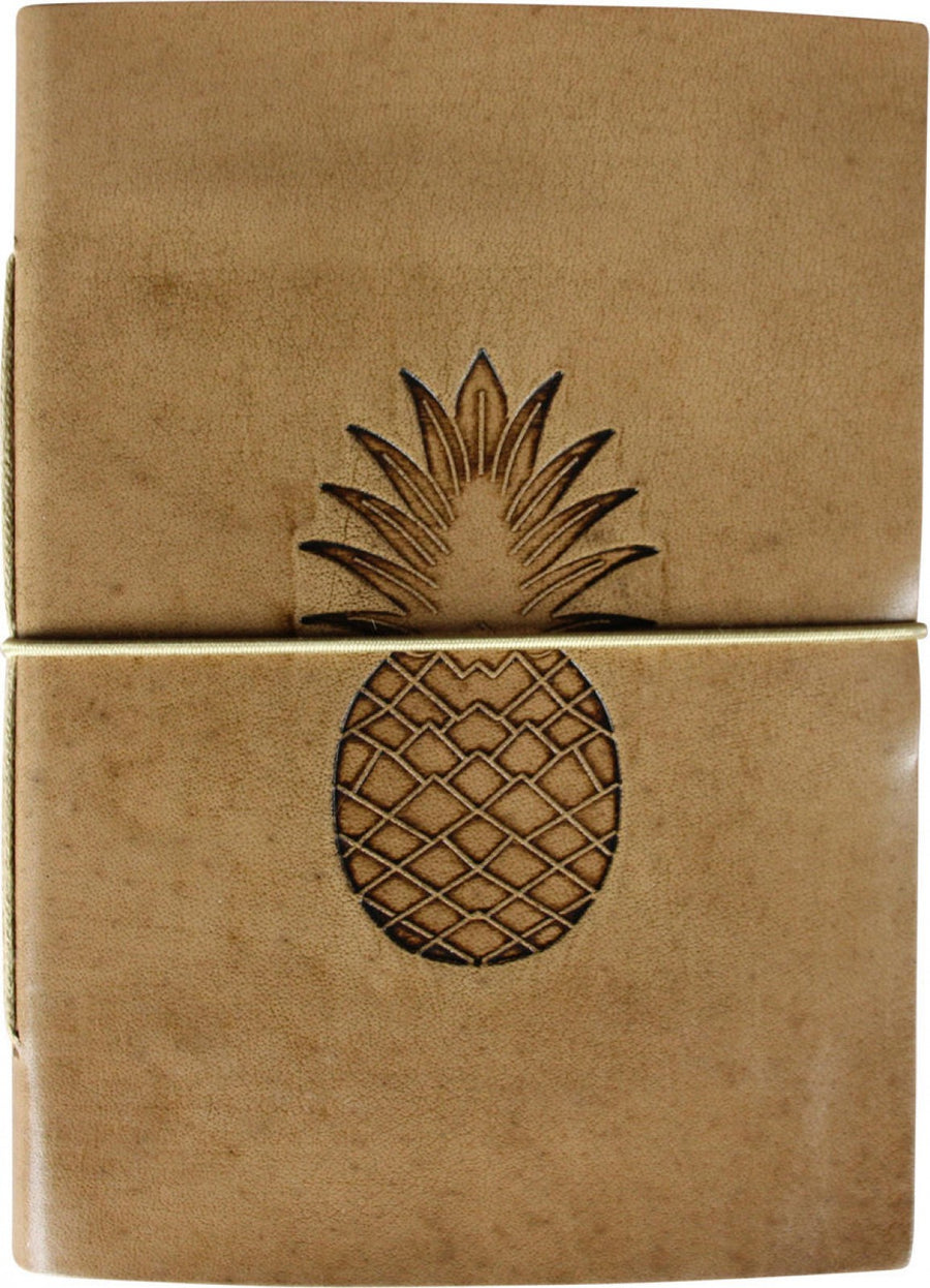 Leather Notebook - Pineapple