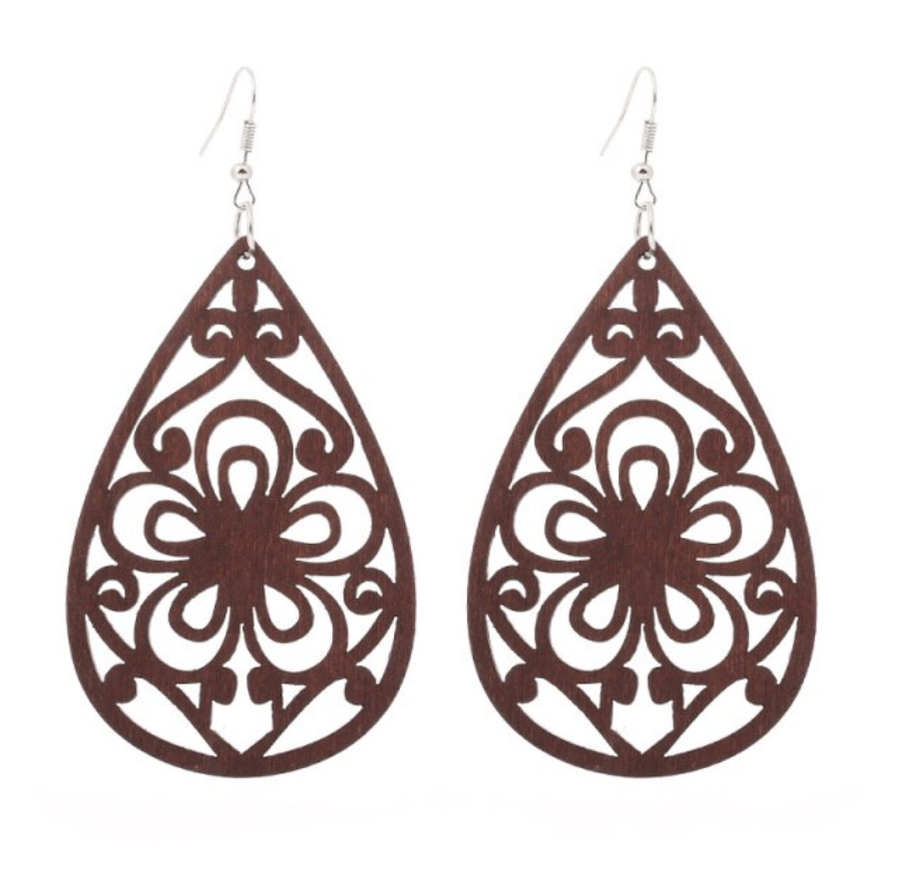 Timber Chocolate Twirl Earrings