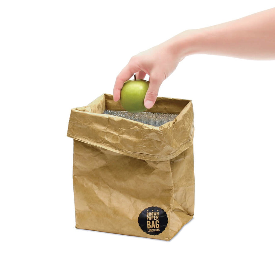 Brown Paper Bag Reusable Lunch Bag