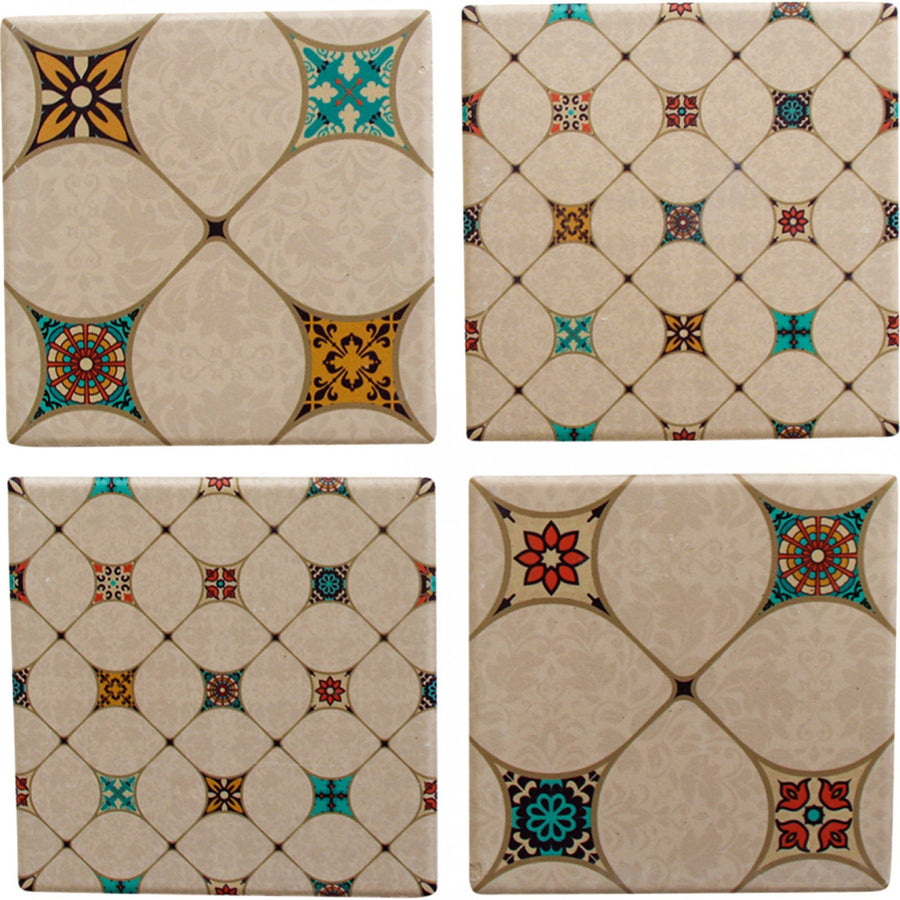 Ceramic Coasters - Spanish Tile