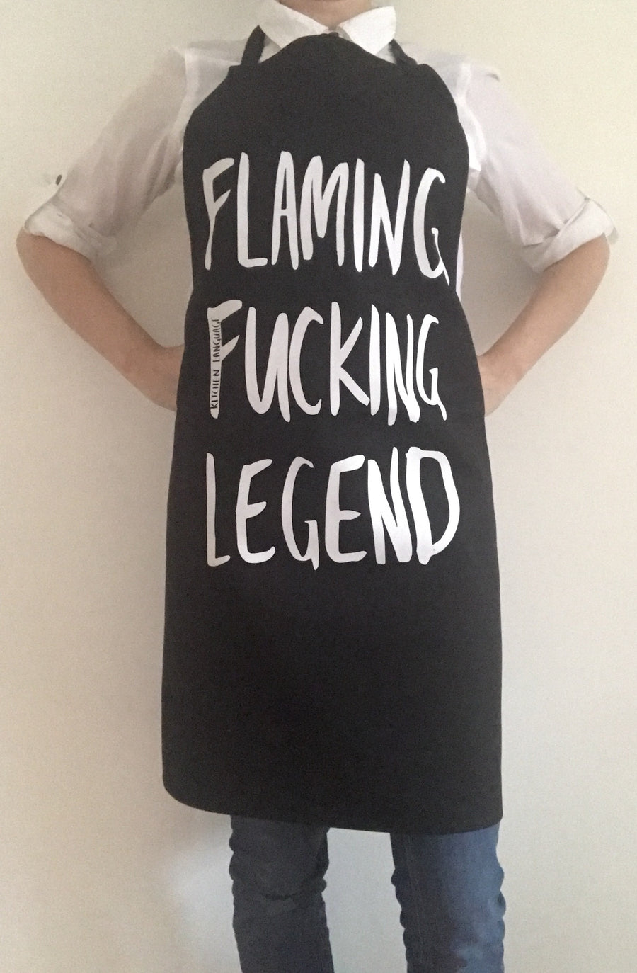 Naughty Apron - Flaming Fucking Legend