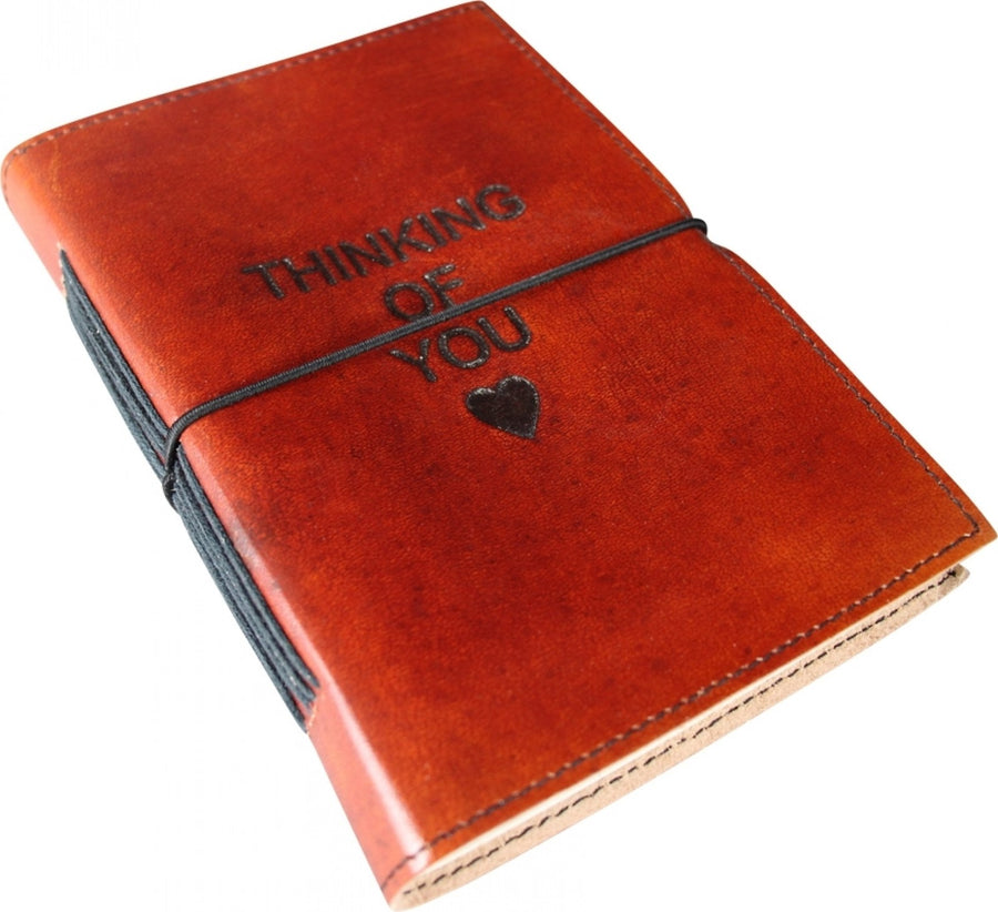 Large Leather Note Book - Thinking Of You