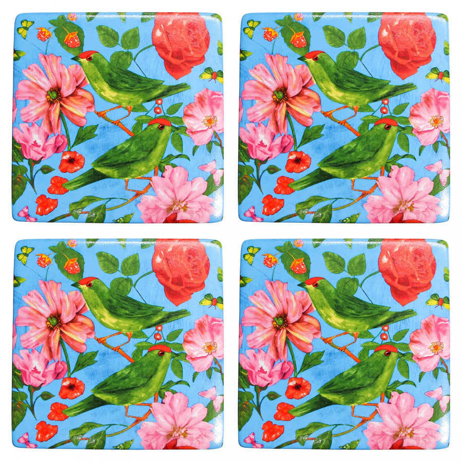 Ceramic Coasters - Rose