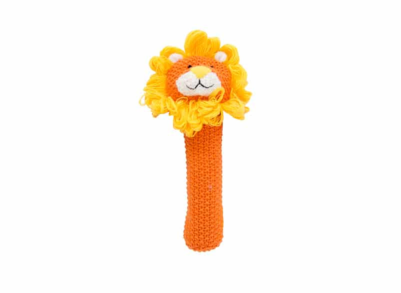Rattle - Crochet Lion