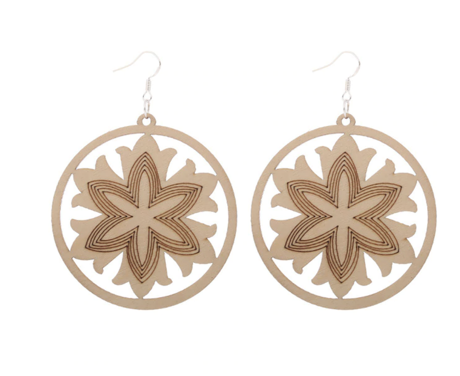 Timber Flower Earrings