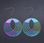 Holographic Round Earrings