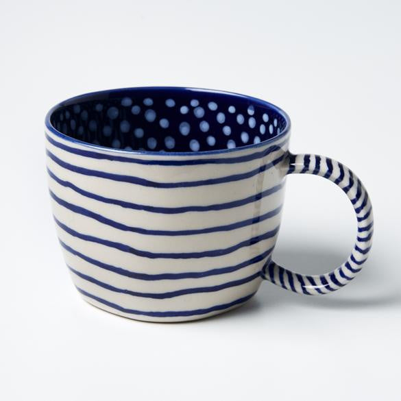 Jones & Co Mug - Navy Lines