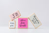 Children's Name Blocks, Set of 4 - Pretty in Pink