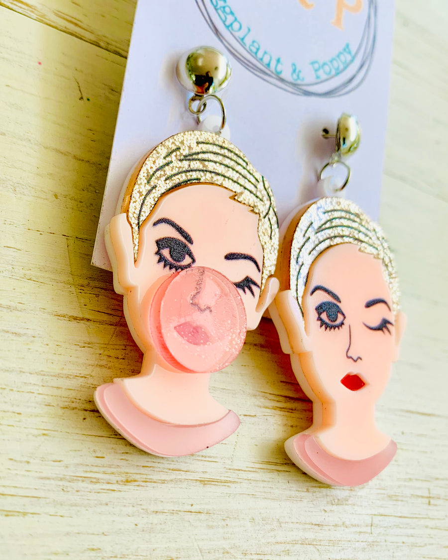 Hubba Bubba Girl Earrings