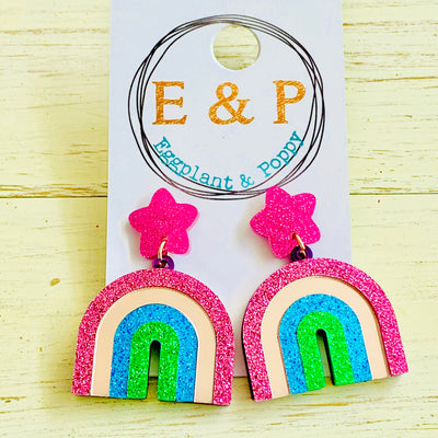 Blush Rainbow Earrings