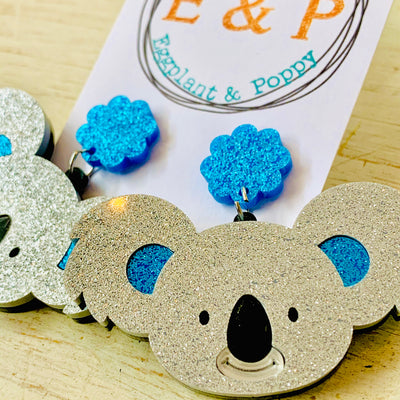 Glitter Koala Earrings