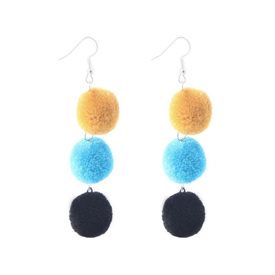 Colourful Pom Pom Dangles