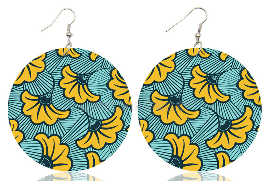 Batik Timber Earrings