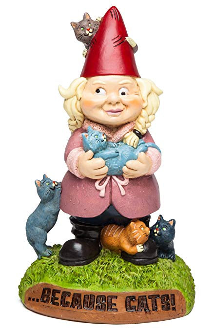 Garden Gnome - Crazy Cat Lady