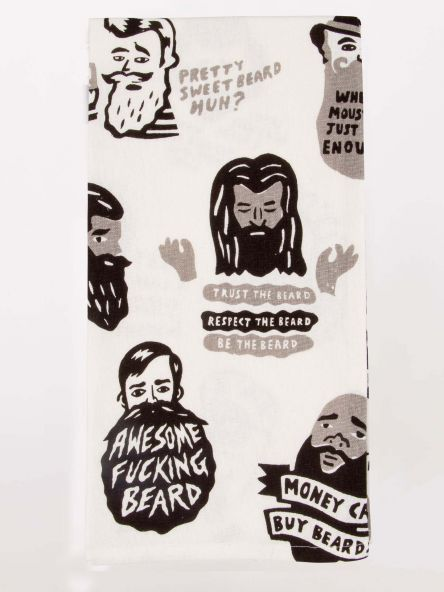 Tea Towel - Awesome Fucking Beard