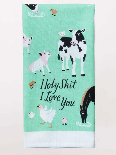 Tea Towel - Holy Shit I Love You
