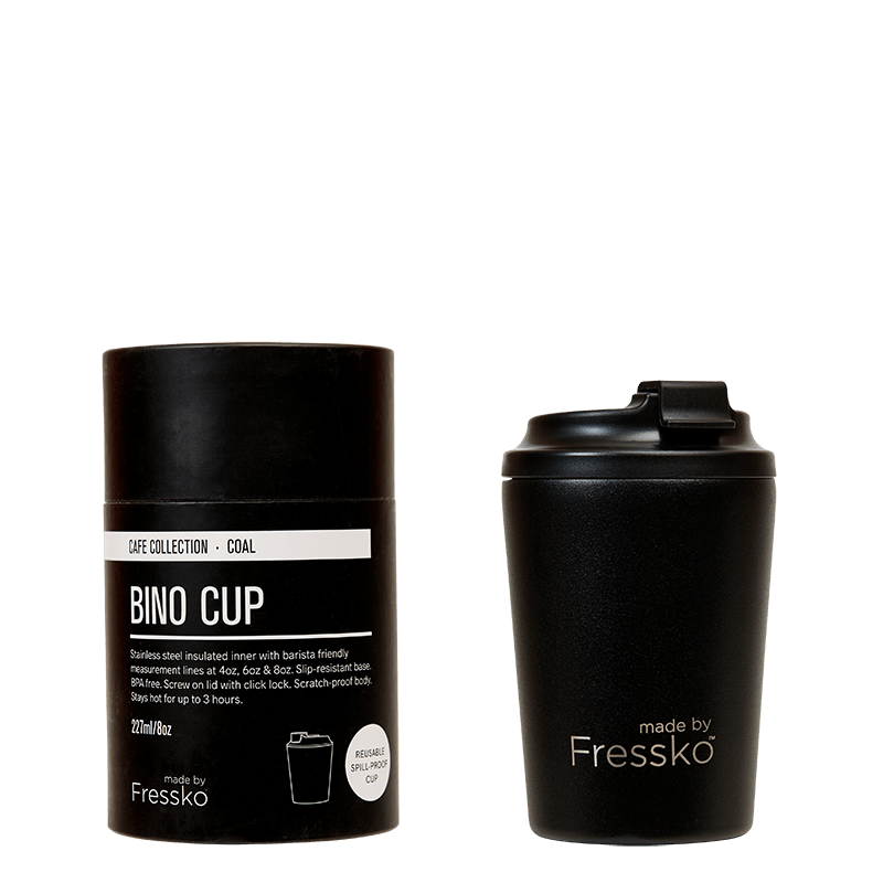 Bino Coffee Cup - 8oz Black