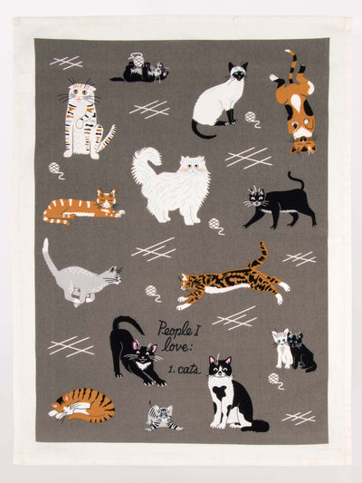 Tea Towel - I Love Cats