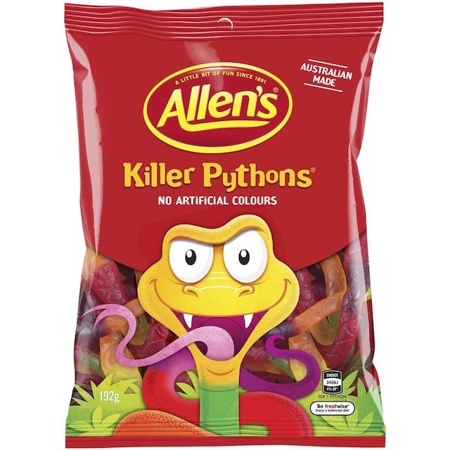 Killer Python Lollies