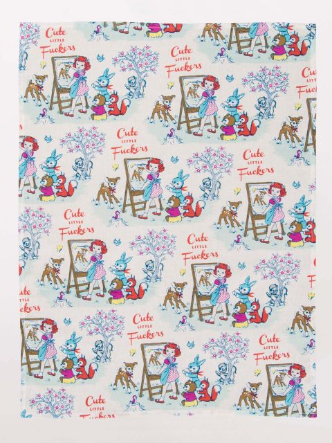 Tea Towel - Cute Little Fuckers