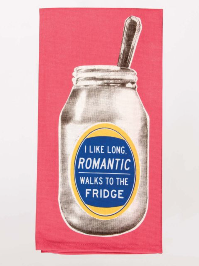 Tea Towel - Romantic Walks To The Fridge