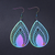 Holographic Leaf Earrings