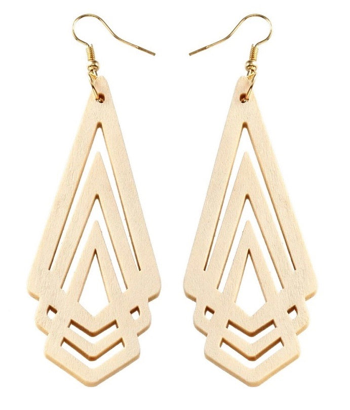 Timber Geometric Earrings