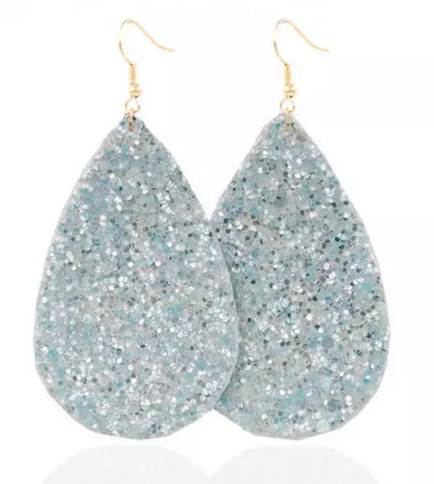 Sparkle Tear Drop Earrings