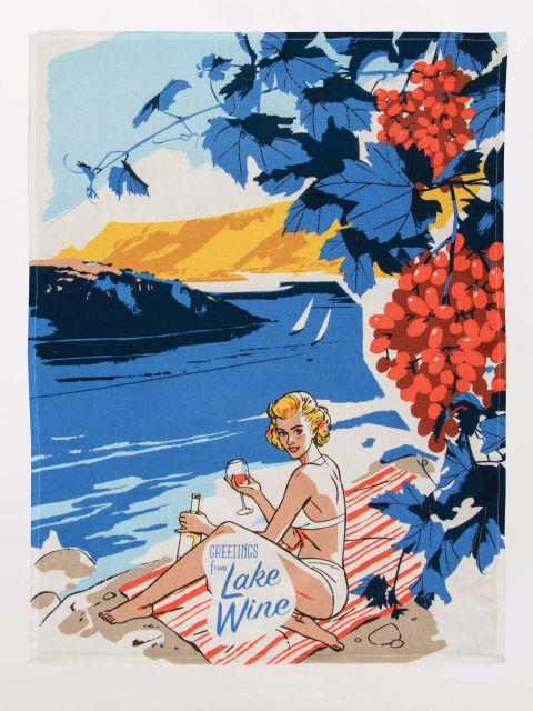 Tea Towel - Lake Wine