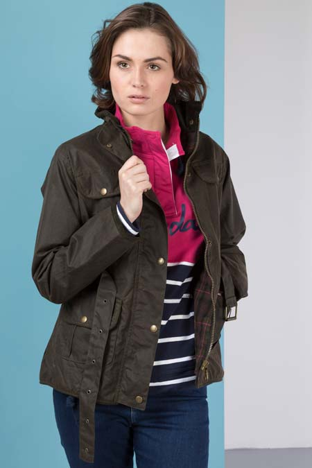 Ladies Milly Belted Wax Jacket