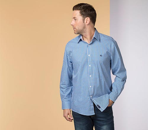 Daniel Blue Oxford Cotton Shirt