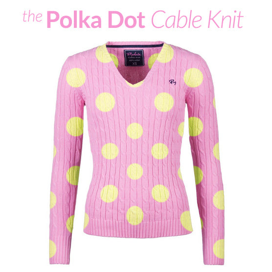 Polka Dot Cable Knit Sweater