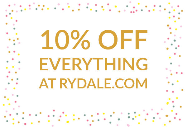 Celebrate Rydale's Birthday with 10% Off Sale