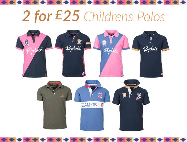2 for £25 on Rydale Childrens Polo Shirts
