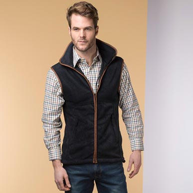 how to match a fleece gilet with a shirt