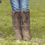 Girls Tall Leather Country Boots